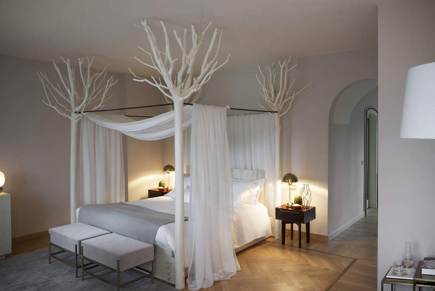 One of the most romantic room at L'Albereta Relais&Chateaux