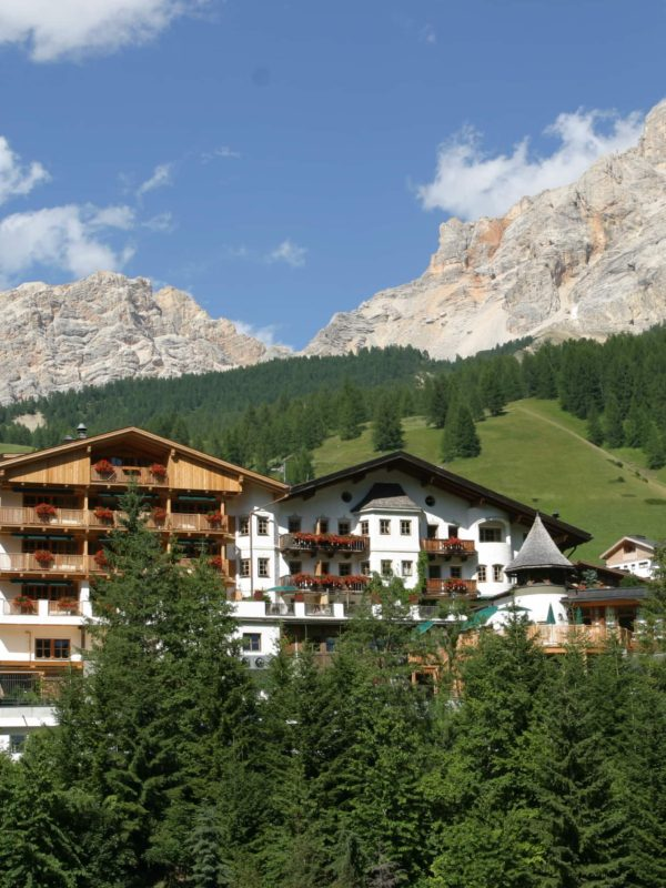 The luxurious Rosa Alpina resort is in the heart of the Italian Dolomites - summer