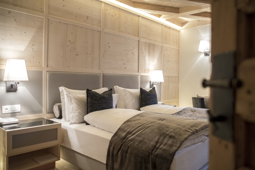 Sleeping in a typical chalet in the heart of the Italian Dolomites